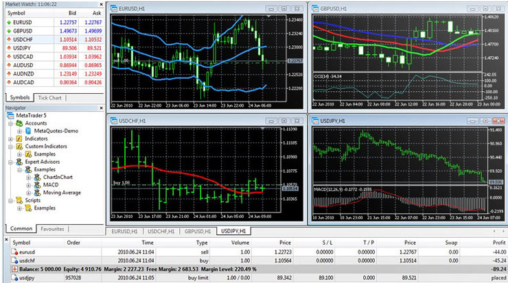 MT5, one of several user-friendly trading platforms available.